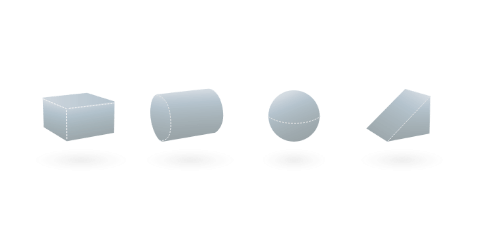 Sample of 3D elements from Moblo, free 3D modeling software.