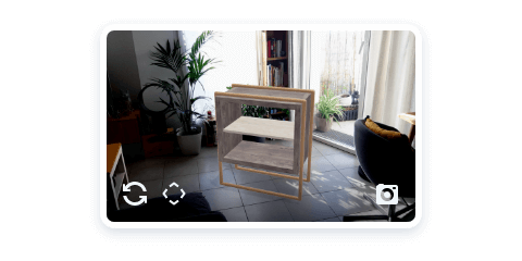 3D furniture visualization in augmented reality with the free Android 3D mobdeling app Moblo