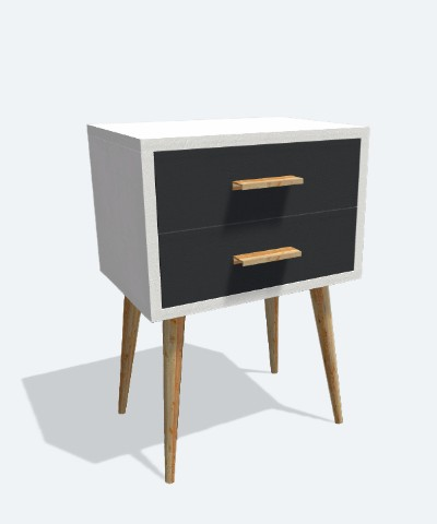 Furniture nightstand. 3D furniture designed with Moblo the free 3D modeling app