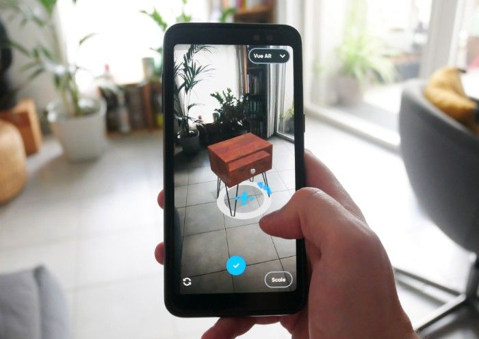 3D furniture visualization with augmented reality with the free Android 3D mobdeling app Moblo